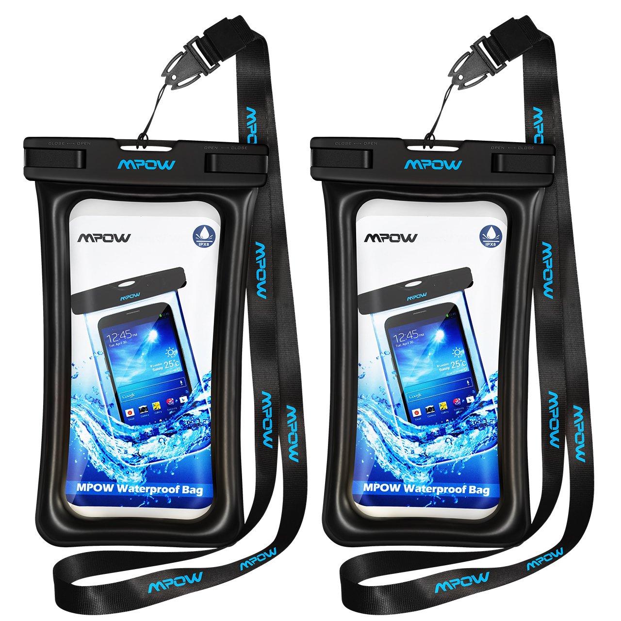 Mpow - Funda Impermeable para Smartphone, IPX8, Universal, Impermeable, Bolsa Seca bajo el Agua, Compatible con iPhone XS Max/XR/X/8/7/Galaxy S10/S9/S8/Mate 20/P30/P20 hasta 6,5 Pulgadas: Amazon.es: Electrónica