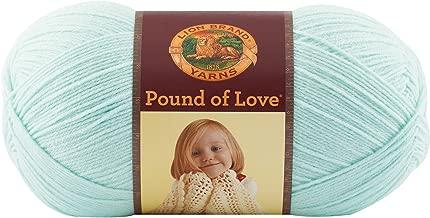(1 Pack) Lion Brand Yarn 550-156A Pound of Love Yarn, Pastel Green