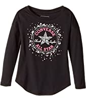 Converse Kids - Sequin Chuck Patch Tee (Toddler/Little Kids)