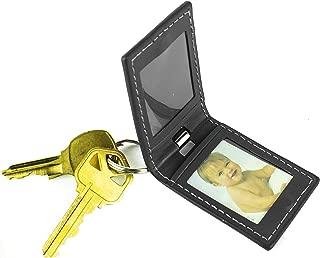 leather photo keychain