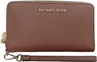 0b5ef58c97e335 Michael Kors Women's Jet Set Travel Large Smartphone Wristlet Wallet Dusty  Rose