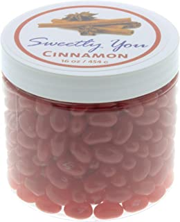 Jelly Belly 1 LB Cinnamon Flavored Beans. (One Pound, 1 Pound) Bulk Jelly Beans in a resealable and reusable jar.