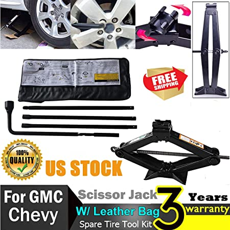 for GMC Sierra Chevy Silverado 2002-2014 Spare Tire Tool Kit Wheel Lug Wrench Extension Tire Tool with Carry Bag 2 Years Warrnaty
