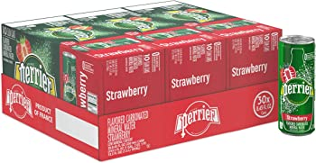 30-Count Perrier Strawberry Flavored Carbonated Mineral Water, 8.45 fl oz