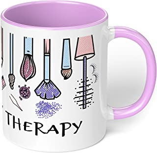 """1 Mug -""""Makeup is my Therapy"""" Mug - Perfect for your cuppa Coffee, Tea, Karak, Milk, Cocoa or whatever Hot or Cold Beverag..."""