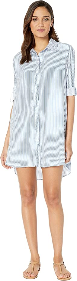 Blue Harbor Island Shirtdress Cover-Up