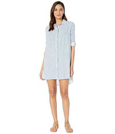 Maaji Blue Harbor Island Shirtdress Cover-Up (Multicolor Blue) Women