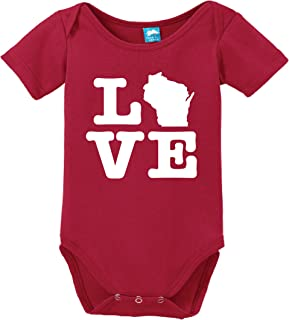 Wisconsin Love Printed Infant Bodysuit Baby Romper