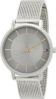 Tommy Hilfiger Mens Quartz Wrist Watch, Gray Stainless Steel - 1770017