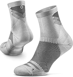 Razer Trail Running Socks for Men and Women, Cushion, Crew Cut, Arch Support, 100% Recycled, Anti-Odor (1 Pair)