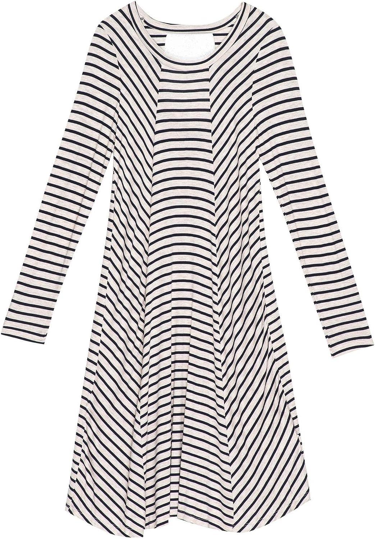 Bobeau Womens Indra Cut Out Back Long Sleeve Casual Dress