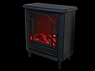 ih casa décor Led Plastic (Old Fashioned) (Black) -14 X 7 X 16 in. Fireplace, Multi