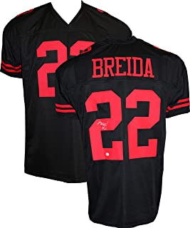 Authentic Matt Breida Autographed Signed Football Jersey (TSE COA) - San Francisco 49ers RB
