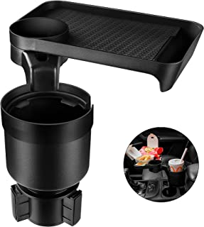 Car Cup holder Expander & Tray for Compatible with Yeti 20/26/30 oz, Hydro Flasks 32/40 oz, Nalgenes 30/32/38/48 oz, Camel...
