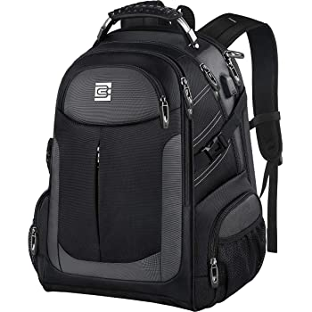 Extra Large Backpack for Men,Durable TSA Travel Laptop Backpack Gifts for Women Men with USB Charging Port,Water Resistant Big Business Computer Bag College School Bookbags Fit 17 Inch Laptops,Black