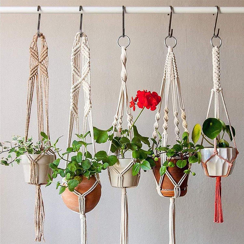 Wooden Beads Macrame Kit for Macrame Hanging Yard Plant Hanger Wall Hanging Knitting Craft Beginner 100M//328Feet DIY Natural Macrame Cord 3mm with 100