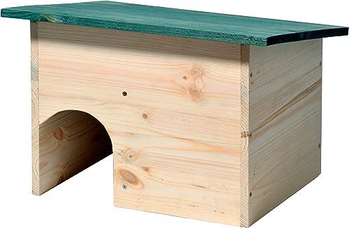 dobar 22222e Kit de Montage de Maison pour hérissons, Toit résistant aux intempéries avec SAS, 34.5 x 24 x 27 cm, Vert