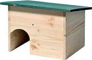 dobar 2222e egelhuis bouwpakket met weerbestendig dak met slot, groen 34,5 x 24 x 27 cm (1-pack)