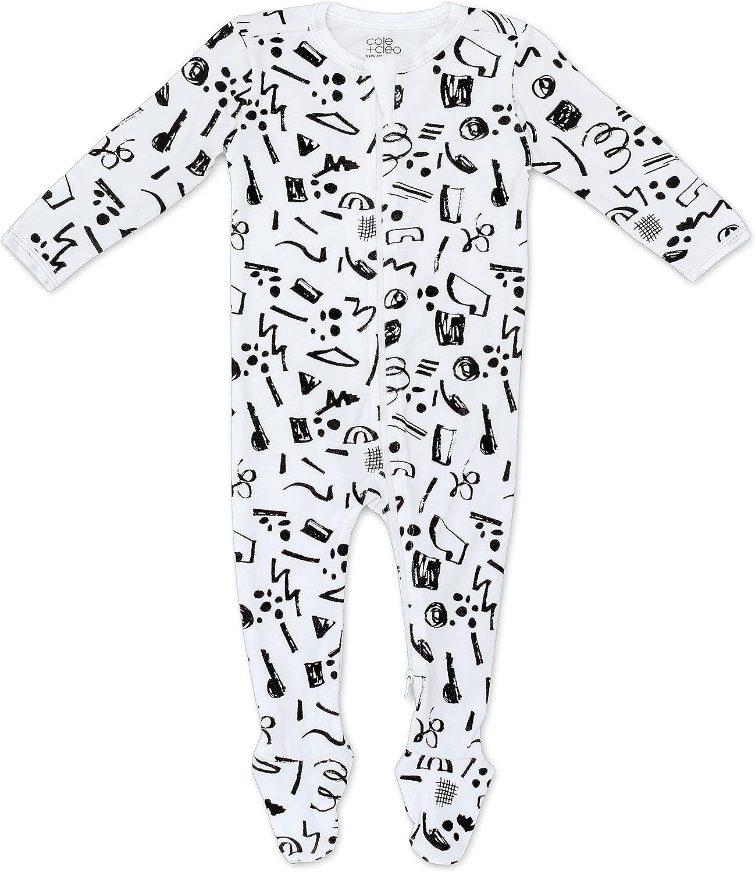 Cole + Cleo Organic Baby Zipper Pajamas Infant Footed Sleep N Play Newborn PJs