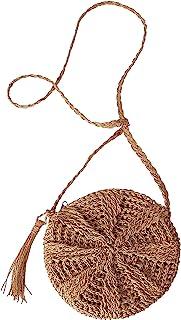 Ayliss Women Straw Crossbody Purse Beach Handmade Woven Shoulder Bag with Tassels