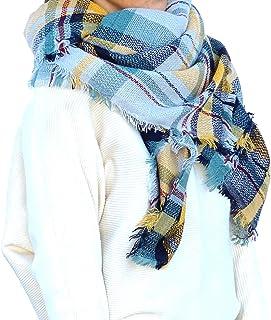 【ロプクス】LOPKS.マフラー チェック スカーフ レディース正方形 マフラー 正方形 大判 羽織る フリンジ 膝掛け 寒さ対策 チェック柄 柔かい肌触り エレガント オシャレのアクセント ストール ショール