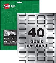 Avery PermaTrack Metallic Asset Tag Labels, 3/4