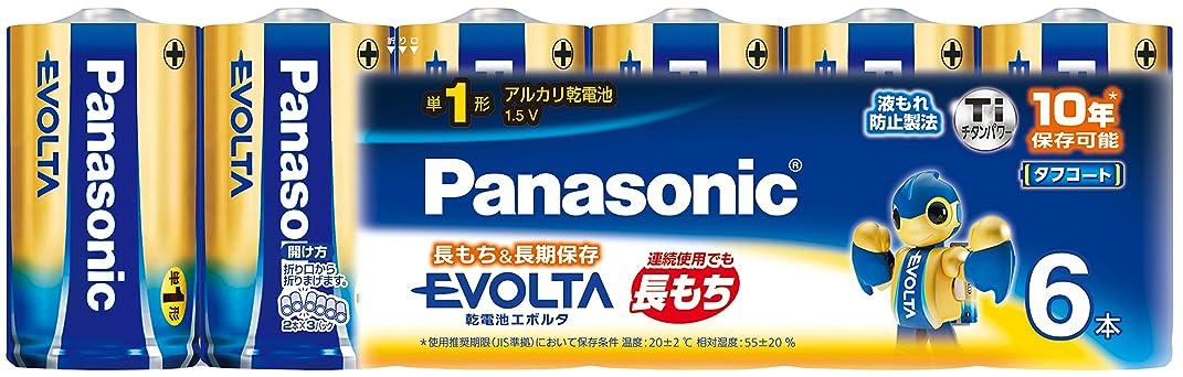 逃げる杖無秩序パナソニック エボルタ 単1形アルカリ乾電池 6本パック LR20EJ/6SW