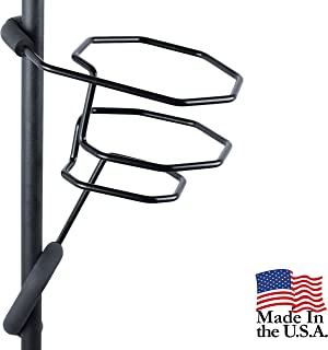 Mic Stand Large Drink Holder - Microphone & Cymbal Pole Mount for Nalgene Water Bottle Mason Jar Atlas Coffee Thermos Cont...