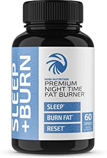Nobi Nutrition Night Time Fat Burner, Sleep Aid an Appetite Suppressant - Stimulant-Free PM Weight Loss Pills & Metabolism...