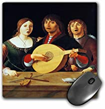 3dRose BLN Music Featured in Fine Art Collection – A Concert, c. 1510 by Lorenzo Costa, Men and Woman singing – MousePad (mp_172073_1)