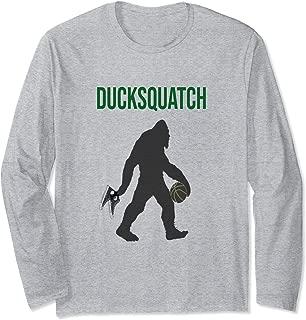 Men's & Women's Ducksquatch Duck Basketball Oregon Fun Fan Long Sleeve T-Shirt