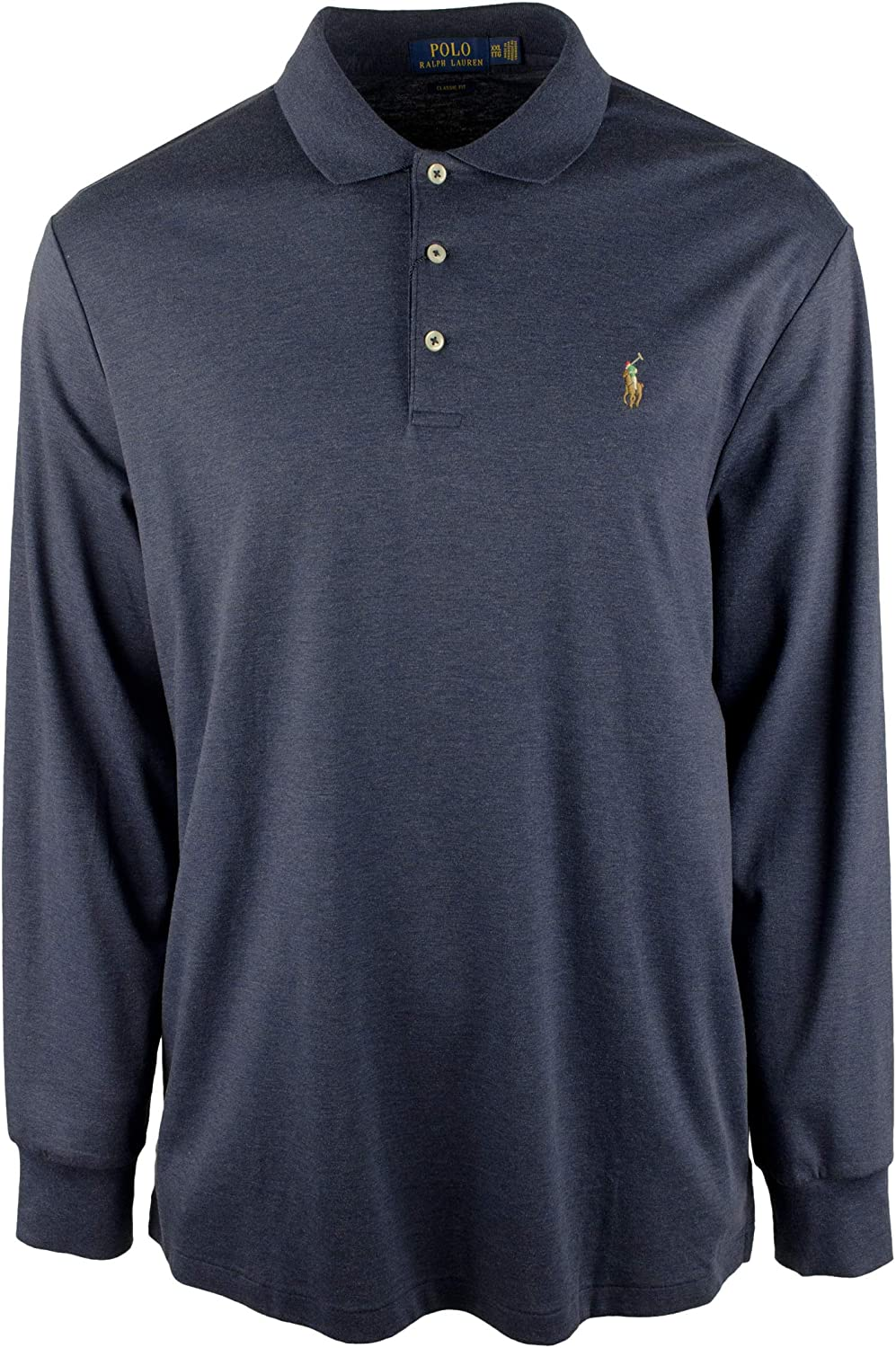 Men's Big and Tall Classic Fit Long Sleeves Polo Shirt