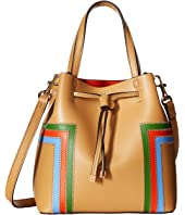 Tory Burch - Block-T Stripe Micro Drawstring Crossbody