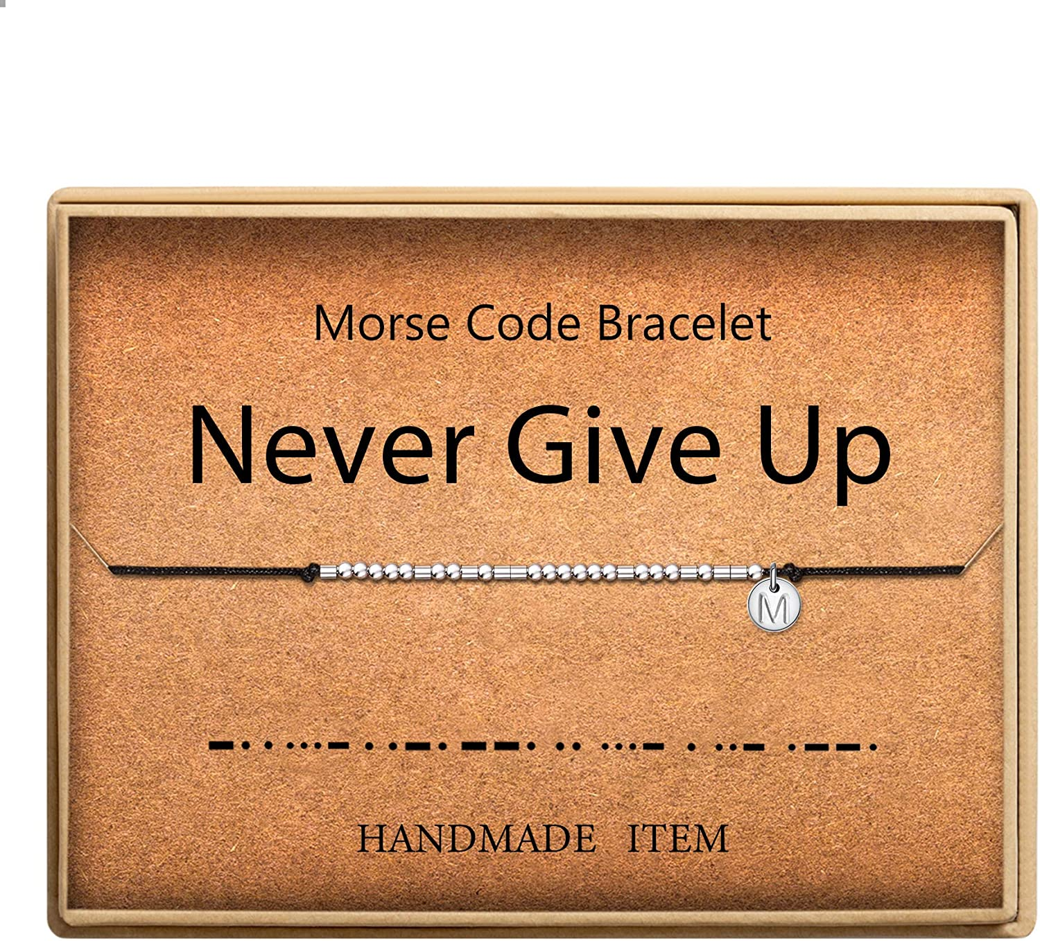 SANNYRA Morse Code Bracelet Initial on Outlet ☆ Free Shipping Beads Adjustable Disc Ranking TOP18 Sil