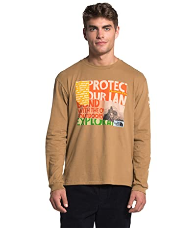 The North Face Rogue Graphic Long Sleeve Tee (Utility Brown) Men