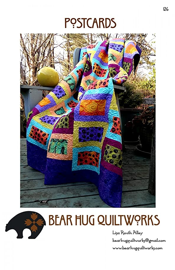 Postcards Quilt Pattern by Bear Hug Quiltworks BHQ-126 77