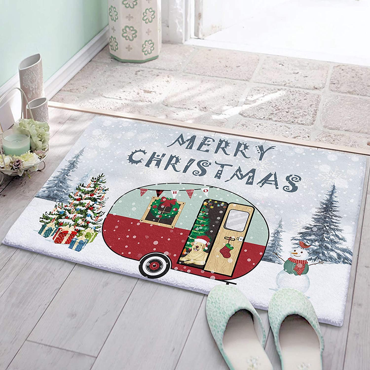 CozyPlushDoormats 2021 autumn and winter new Today's only 20x32in AbsorbentCushionedKitchenMatAre