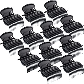 Hot Roller Clips Hair Curler Claw Clips Replacement Roller Clips, Pack of 12, Black