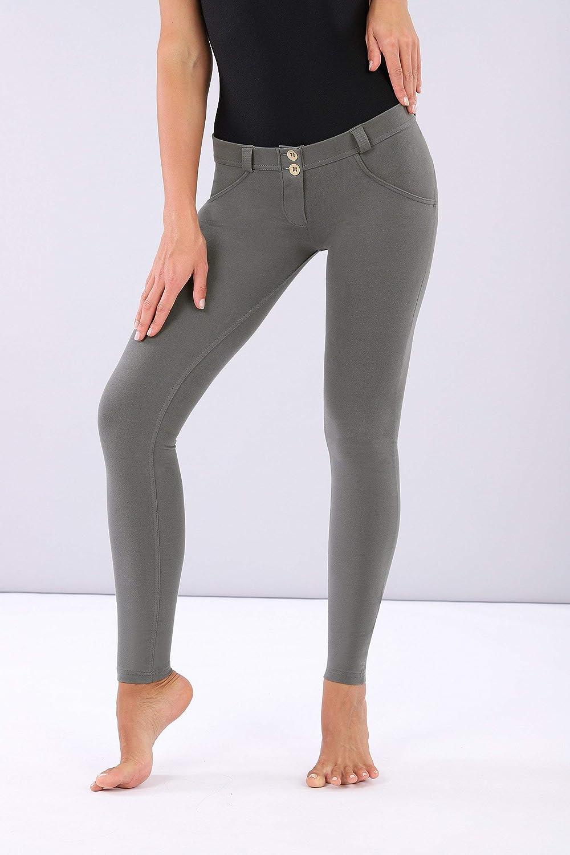 Pantalon WR.UP® Skinny Taille Basse Longueur Classique en Coton élastique Gris