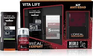 L'Oréal España Men Expert Pack de Ducha Vitalift para Hombre, Incluye Gel de Ducha Total Clean 5 en 1 y Crema Hidratante A...