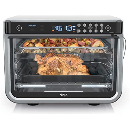 Amazon.com: Ninja DT251 Foodi 10-in-1 Smart Air Fry Digital Countertop Convection Toaster Oven with Thermometer XL Capacity and a Stainless Steel Finish: Kitchen & Dining
