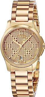 Gucci - G Timeless – Reloj de Pulsera analógico para Mujer Cuarzo, Revestimiento de Acero Inoxidable ya126553