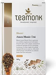 Teamonk Bhumi Assam Masala Chai Black Tea Loose Leaf (50 Cups) | Tea for Boosting Energy | 100% Natural Cinnamon Tea, Clove Tea, Cardamom Tea, Ginger Tea | Pure Loose Leaf Tea | No additives - 3.5oz