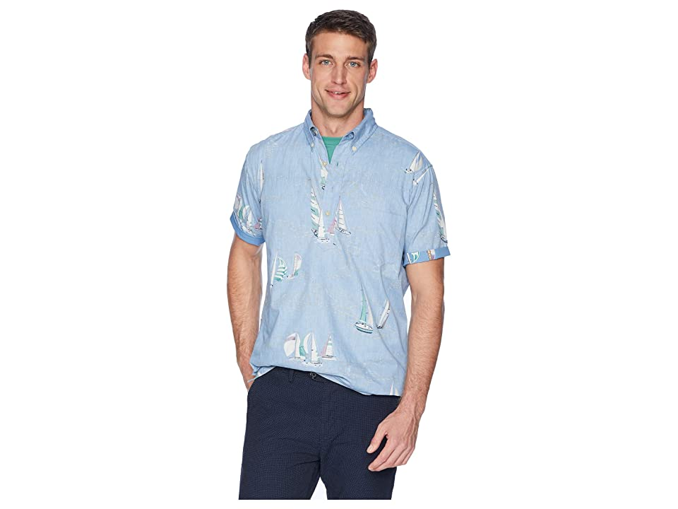Reyn Spooner Tradwinds Regatta Classic Pullover Hawaiian Shirt (Denim) Men
