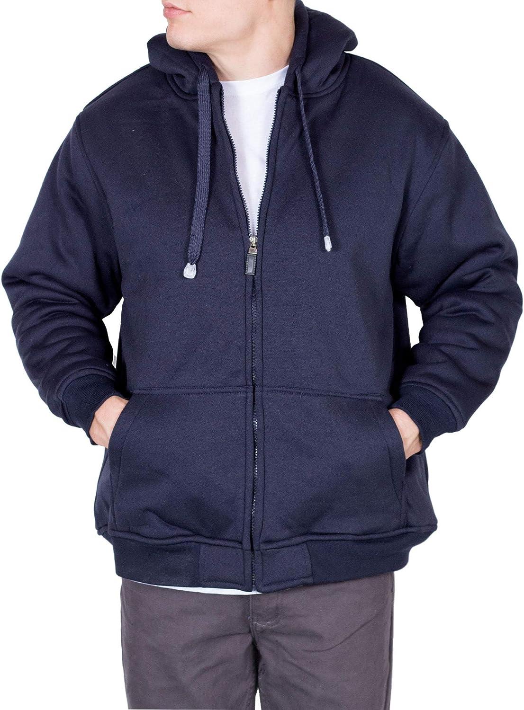 Maxxsel Mens Fleece Ranking TOP5 Heavy Sweatshirt Zip Jackets Up for San Diego Mall Hoodie M