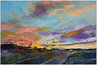 """Noir Gallery Desert Landscape Oil Painting 5"""" x 7"""" Unframed Art Print/Poster"""