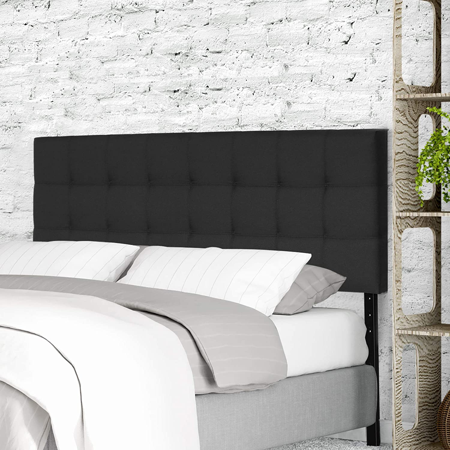 FURINNO Limited time sale 70% OFF Outlet Roanne Tufted Twin Black Headboard