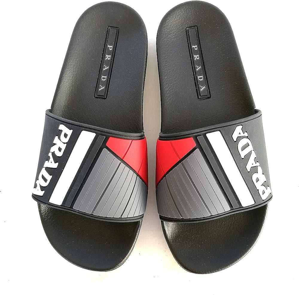 Prada ciabatte, sandali in pvc, per uomo,numero 39 eu 4X3204B40F0967