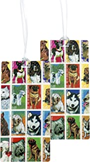 Luggage Tags - Bag Tag Name ID Set for Suitcase, Baggage, with Classic Designs by 11:11 (Dog Lover Stamps 2 PC)