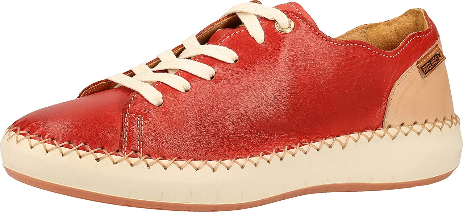 PIKOLINOS Women's Mesina W6B-6836 Leather Lace-Up Sneakers